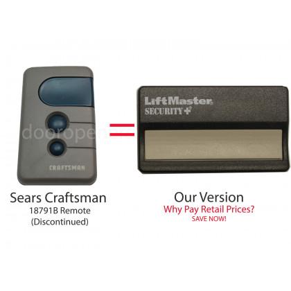Sears Craftsman 139.18791 139.18791B 390 MHz Compatible Single Button Visor Remote Control