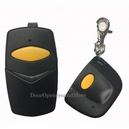 Sears Craftsman 139.53859 Compatible 390 MHz Visor & Mini Key Chain Combo Garage Door Opener Remote Control