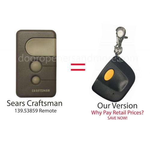 Sears Craftsman 139 53859 Compatible 390 Mhz Single Button