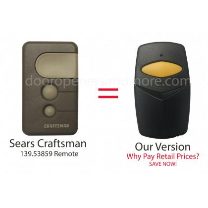 Sears Craftsman 139.53859 Compatible 390 MHz Single Button Garage Door Opener Remote Control