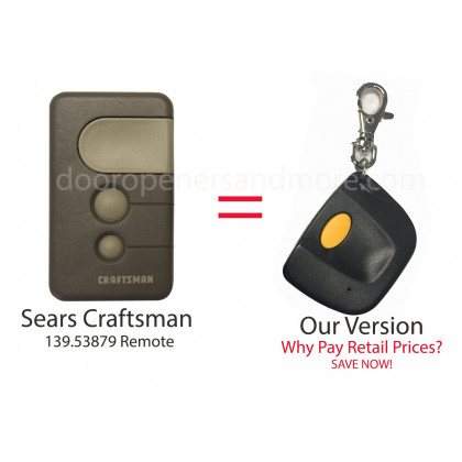 Sears Craftsman 139.53879 Compatible 390 MHz Single Button Mini Key Chain Remote Control