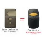 Sears Craftsman 139.53879 Compatible 390 MHz Single Button Garage Door Opener Remote Control