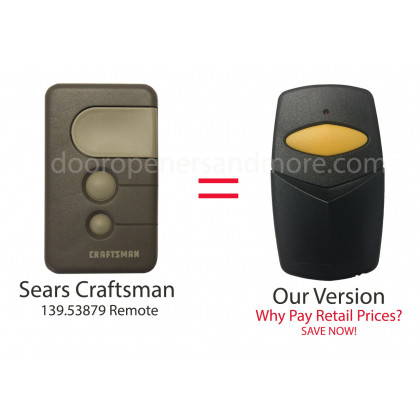Sears Craftsman 139.53879 Compatible 390 MHz Single Button Garage Door Opener Remote Control