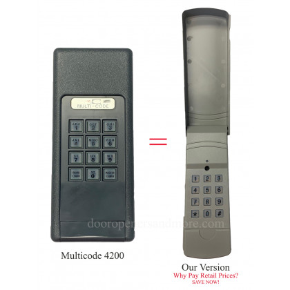 Multi Code 4200 Compatible 300 Mhz Wireless Keypad