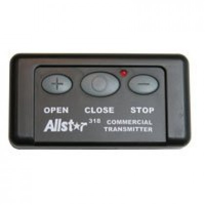 Allstar 111662 318 MHz 3 Button Open Close Stop Remote Control QC Classic OCS