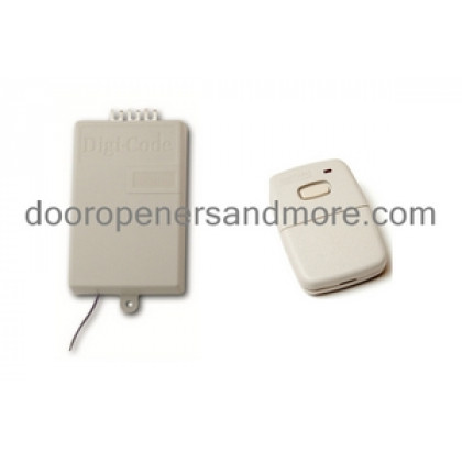 Digi Code 300 MHz Replacement Garage Door Receiver Single Remote Set