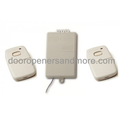 Digi Code 300 MHz Replacement Garage Door Receiver Remote Set