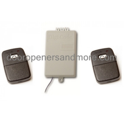 Digi Code 310 MHz Replacement Garage Door Receiver Remote Set