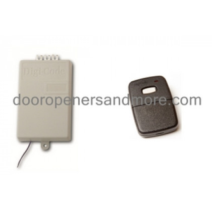 Digi Code 310 MHz Replacement Garage Door Receiver Single Remote Set