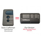 Sears Craftsman 139.53681B Compatible 3 Button Visor Remote Blue Button