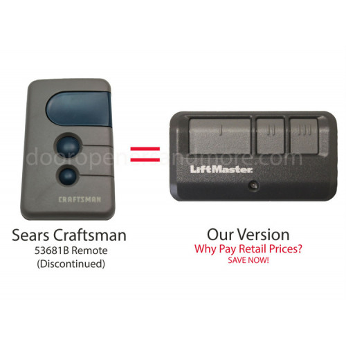 Sears Craftsman 139 53681b Compatible 3 Button Visor