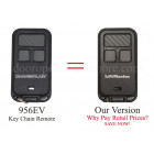 Chamberlain 956EV 3 Button Mini Keychain Remote  MyQ, 371LM, 971LM, and 81LM compatible
