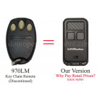 Liftmaster 970LM Compatible 890MAX 390 MHz Security 3 Button Mini Remote Control