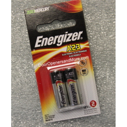 Energizer 12 volt a23 battery 2 pack for 12v battery garage door opener