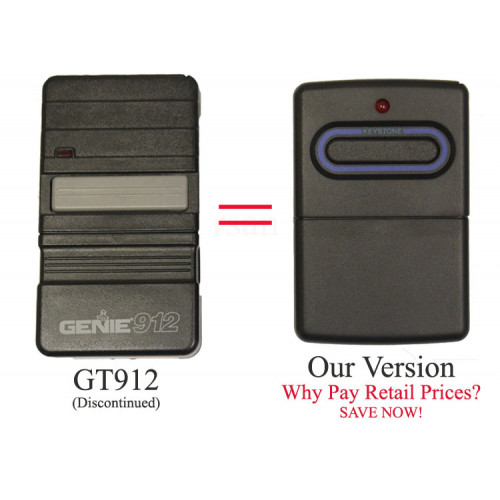 Genie 912 Garage Door Opener Genie Gt912 Transmitter For