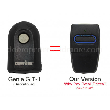Genie Git 1 Compatible 390 Mhz Intellicode Visor Remote
