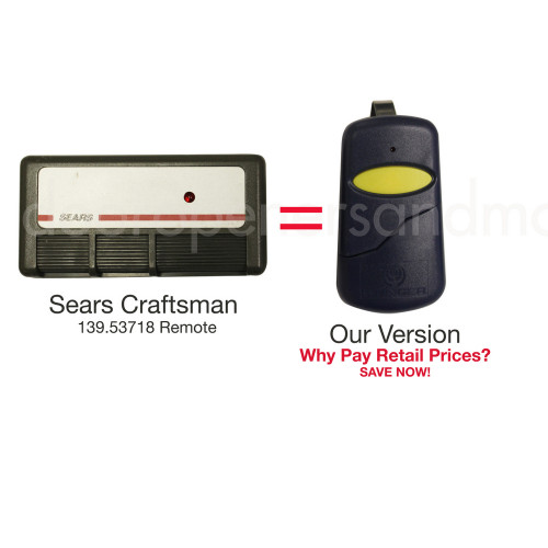 Sears Craftsman 139 53718 Compatible 390 Mhz Visor Remote
