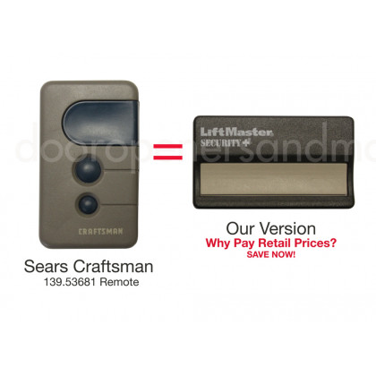 Sears Craftsman 139.53681B Compatible Single Button Security+ Visor Remote 390 MHz