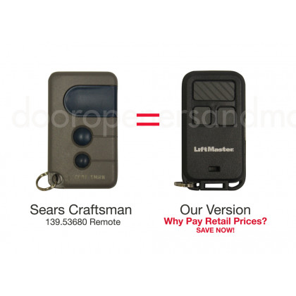 Sears Craftsman 139.53680 Compatible 390 MHz Security+ Mini Key Chain Remote Blue Button