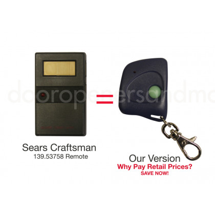 Sears Craftsman 139.53403 Compatible 390 MHz Mini Key Chain Remote Control 8 or 9 Dip Switch