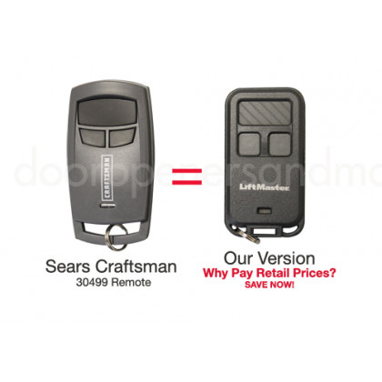 Sears Craftsman 139.30499 AssureLink Compatible Mini Key Chain Garage Door Opener Remote