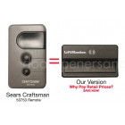 Sears Craftsman 139.53753 Compatible 315 MHz Security+ Garage Door Opener Remote Control