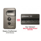 Sears Craftsman 139.53753 315 MHz 3 Button Gate or Garage Door Opener Remote Control