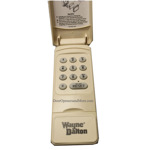wayne dalton 327607 288830 372 mhz wireless keypad. Black Bedroom Furniture Sets. Home Design Ideas