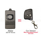 Allstar 9921 9921MT Compatible 318 MHz Single Button Mini Key Chain Remote Allister Pulsar