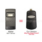 Allstar 9921 9921T Compatible 318 MHz Single Button Visor Remote Allister Pulsar