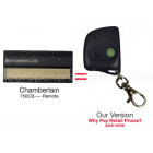 Chamberlain 750CB Compatible 390 MHz Single Button Mini Garage Door Opener Remote