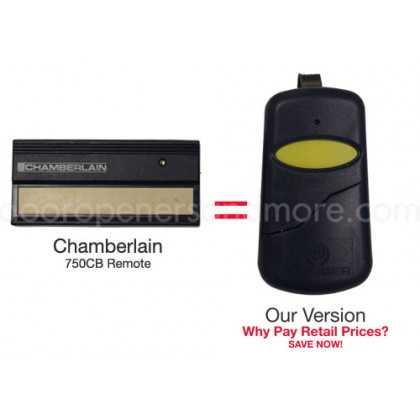Chamberlain 750CB Compatible 390 MHz Single Button Visor Garage Door Opener Remote