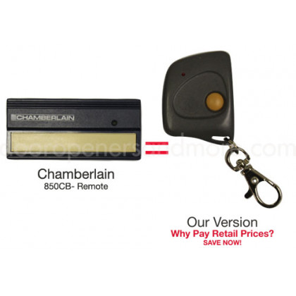 Chamberlain 850CB 390 MHz Compatible Single Button Mini Key Chain Remote Control