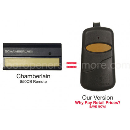 Chamberlain 850CB 390 MHz Compatible Single Button Visor Remote Control