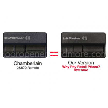 Chamberlain 953cd Compatible 315 Mhz 3 Button Visor Remote