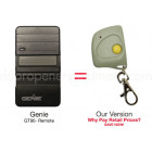Genie GT90 GPT-1 390 MHz Compatible Mini Key Chain Remote Control 12 Dip Switch