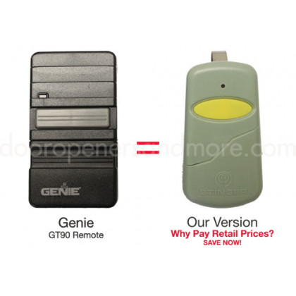 Genie GT90 GPT90 390 MHz Compatible Garage Door Opener Remote 12 Dip Switch