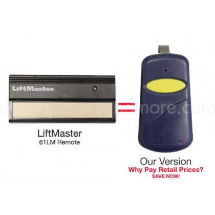 LiftMaster 61LM Compatible 390 MHz Single Button Visor Garage Door Opener Remote