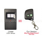 Linear DNT00017A DT-2A Compatible 310 MHz 2 Button Mini Key Chain Remote Control