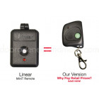 Linear MINI-T DNT00026 Compatible 310 MHz Mini Key Chain Remote Control 8 Dip Switch