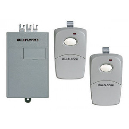 Multi Code 109020 308911 300 MHz Replacement Garage Door Receiver Dual Remote Set