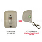 Multi Code 3070 Compatible 300 MHz Single Button Mini Key Chain Garage Door Remote Control
