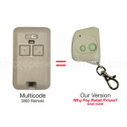 Multi Code 3083 Compatible 300 MHz 2 Button Mini Key Chain Garage Door Remote Control