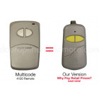 Multi-Code 4120 412001 Slim Compatible 300 MHz 2 Button Visor Remote Control