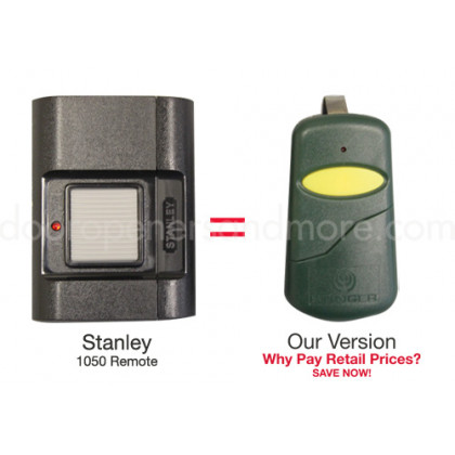 Stanley 1050 105015 Compatible 310 MHz Slim Visor Garage Door Remote Control