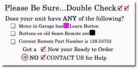 Sears Craftsman 139 53753 Compatible 315 MHz Security+
